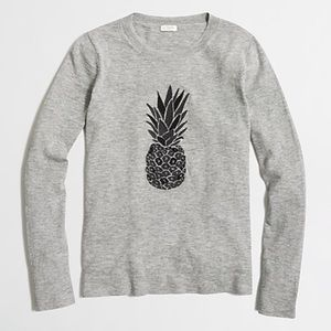 J.Crew Embroidered Pineapple Sweater